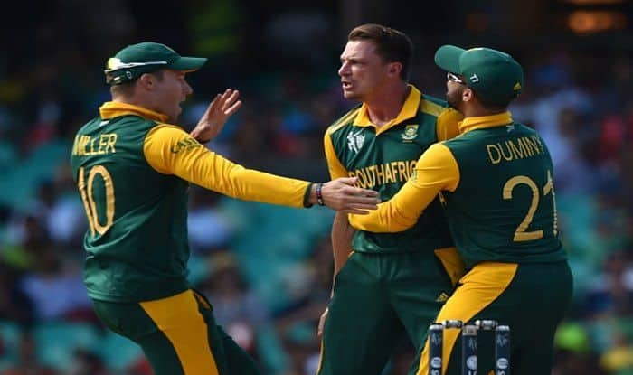 File Image of Dale Steyn celebrating with teammates David Miller (L) and JP Duminy_Getty