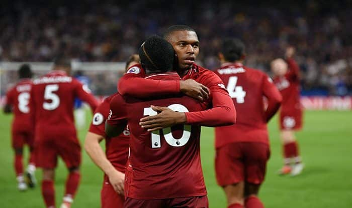 Daniel Sturridge celebrates after scoring the equalising goal during the Premier League match between Chelsea FC and Liverpool FC at Stamford Bridge_Getty