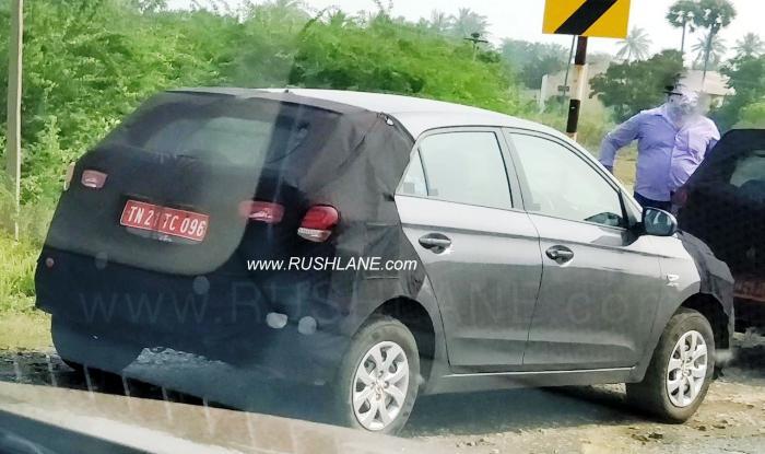 Hyundai Elite i20 facelift AT variant Spied Testing