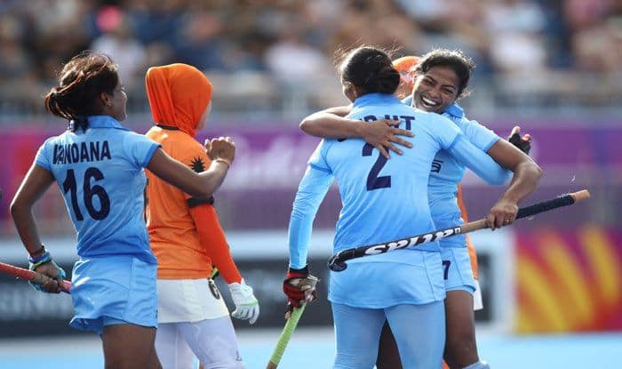 File Image of Gurjit Kaur of India celebrating a goal during the Womens Hockey match_Getty