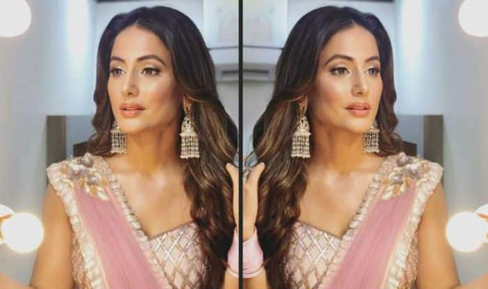 Bigg Boss 11 Contestant Hina Khan Looks Smoking Hot in Pastel Pink Saree, This Look is For Jennifer Winget's Bepannaah