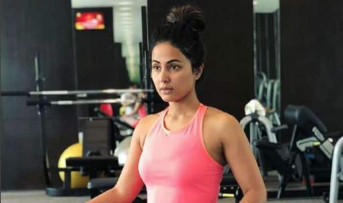 Bigg Boss Finalist Hina Khan Flaunts Her Perfectly Toned Abs as She Preps For a Shoot – View Picture