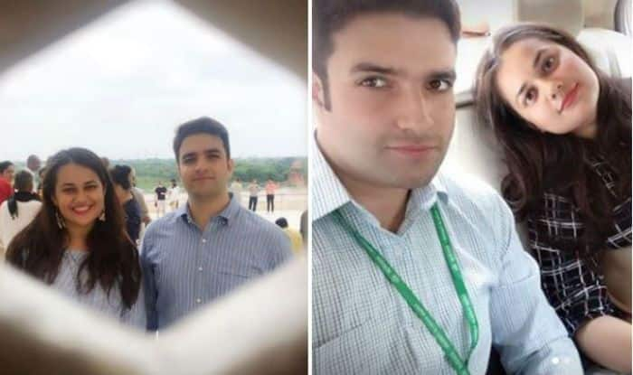 IAS Couple Tina Dabi And Aamir-ul-Shafi Look Adorable as They Strike a Pose Together For a Selfie – See Pictures