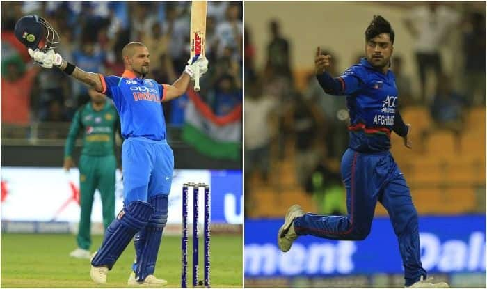 India's Shikhar Dhawan and Afghanistan's Rashid Khan claim top spots in batsmen and bowlers tally in ongoing Asia Cup 2018_Getty