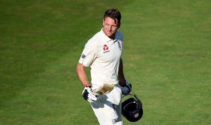 Jos Buttler celebrates his knock vs India in Oval Test_ICC Twitter