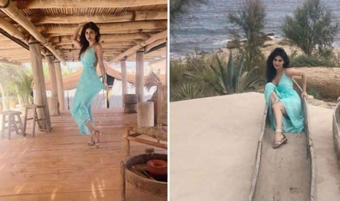 Naagin Fame Mouni Roy Looks Hot as She Strikes a Sexy Pose in Green Pastel Dress During Her Greece Vacation – See Pictures