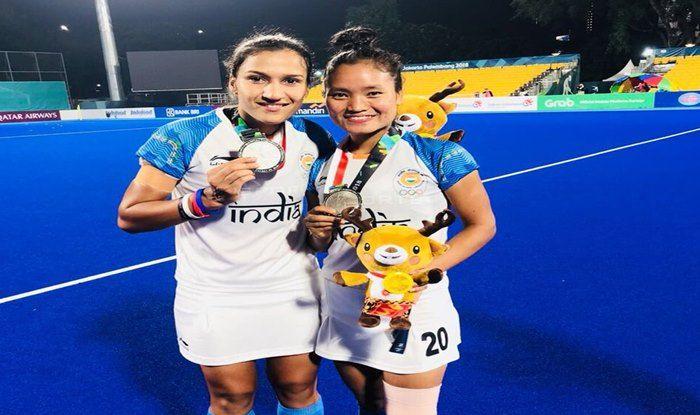 Rani Rampal celebrates winning a silver at Asian Games 2018_Rani Rampal Twitter