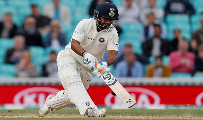 Rishabh Pant plays a shot but gets hit by the ball during play on the final day of the fifth Test between England and India at The Oval_Getty