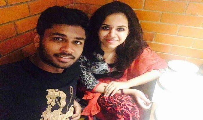 Sanju Samson to marry college love Charu_Sanju Samson FB