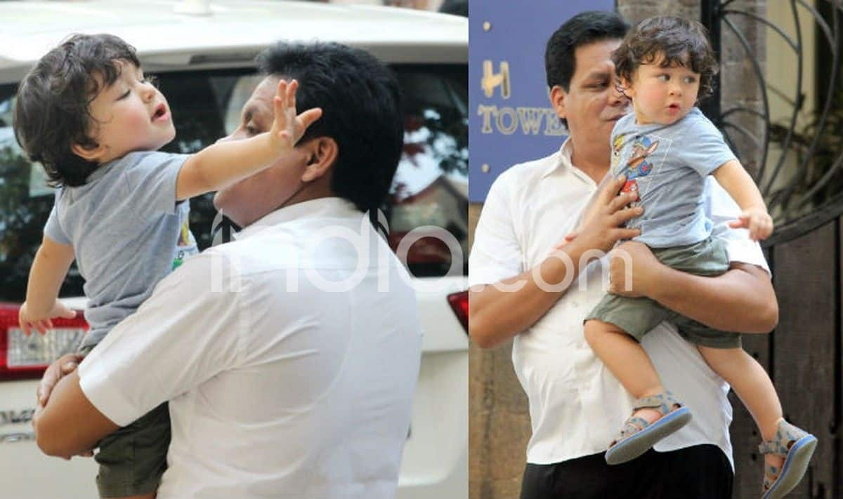 Taimur Ali Khan is Fighting Hard to Get Something in His Latest Cute Pics