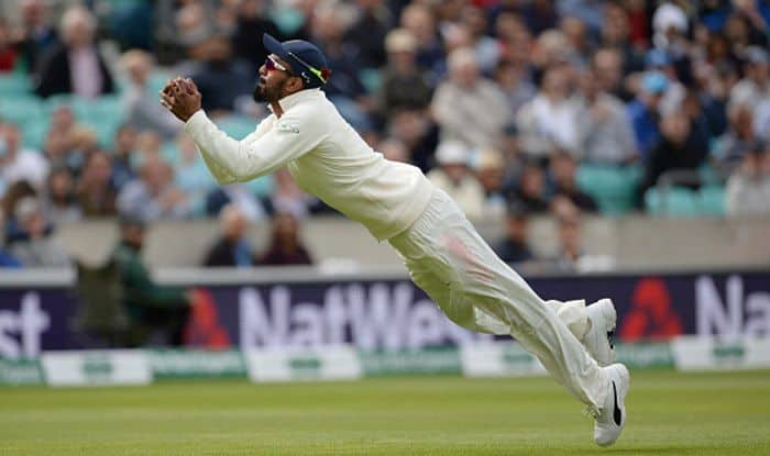 India vs England 5th Test Day 2: KL Rahul Takes a Diving Catch to Set New Fielding Record in England---Watch Video