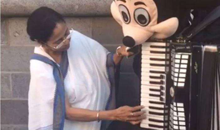 Mamata Banerjee Plays Hum Honge Kamyab on Accordion With Mickey Mouse in Germany – Watch