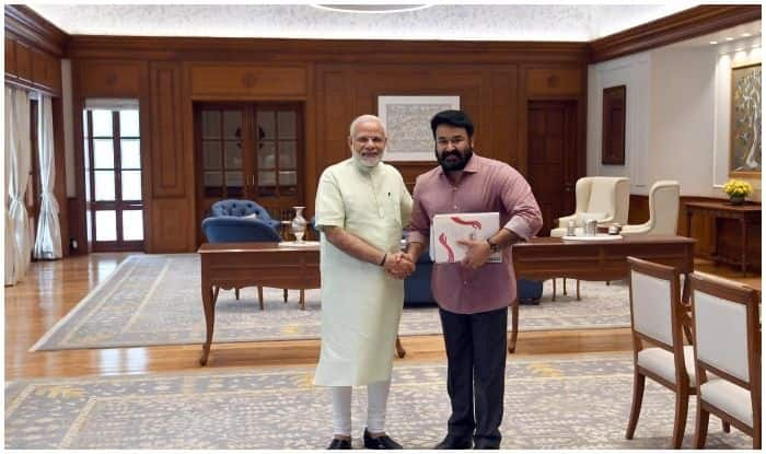 PM Modi and Mohanlal