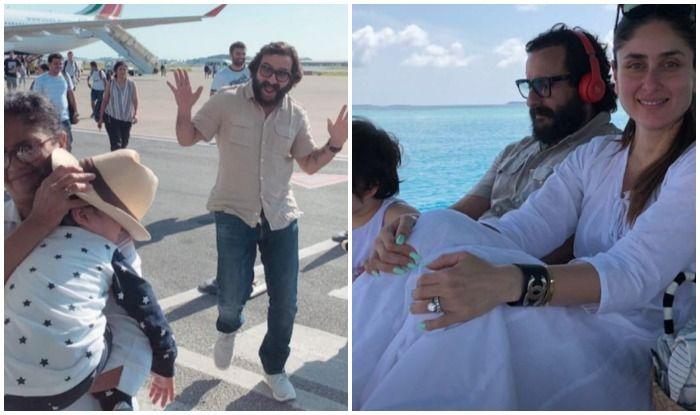 Taimur Ali Khan, Kareena Kapoor and Saif Ali Khan's Latest Pics from Maldives Are Out; Soha Ali Khan Also Joins In