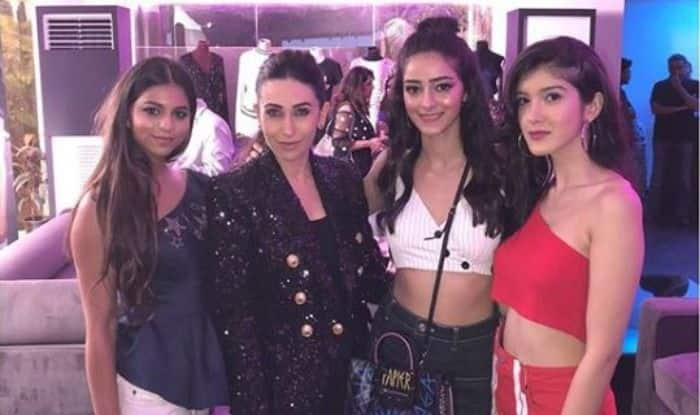 Suhana Khan, Ananya Pandey And Shanaya Kapoor Look Stunning as They Pose With Karisma Kapoor, See Picture