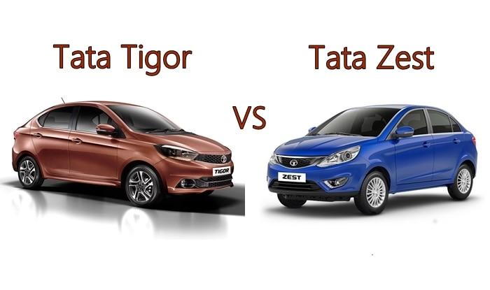 Tata Tigor Vs Tata Zest Compare Price Features Specifications