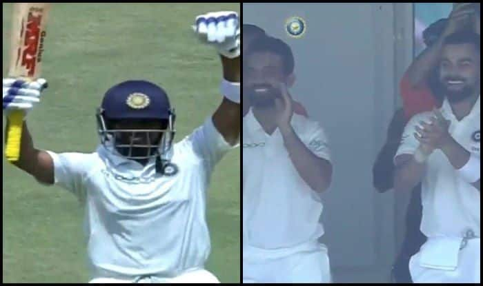India vs West Indies 1st Test Day 1 Rajkot: Virat Kohli, Ajinkya Rahane's Priceless Reaction After Prithvi Shaw Becomes Youngest Opener to Score Century on Debut is Unmissable — WATCH