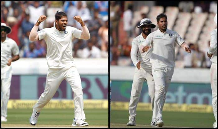 India vs West Indies 2nd Test: Umesh Yadav Joins Kapil Dev, Ravi Shastri to Record of Becoming Only Indian Bowlers to Pick Three Wickets in Four Balls