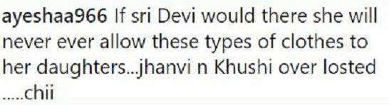 Khushi Kapoor trolled