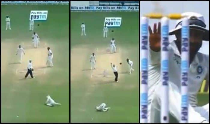India vs West Indies 2nd Test: When Ravidra Jadeja Nearly Hit Umpire With a Bullet Throw of Umesh Yadav's Ball — WATCH