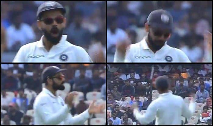 India vs West Indies 2nd Test: Captain Virat Kohli Eggs on Crowd During Match For Support — WATCH
