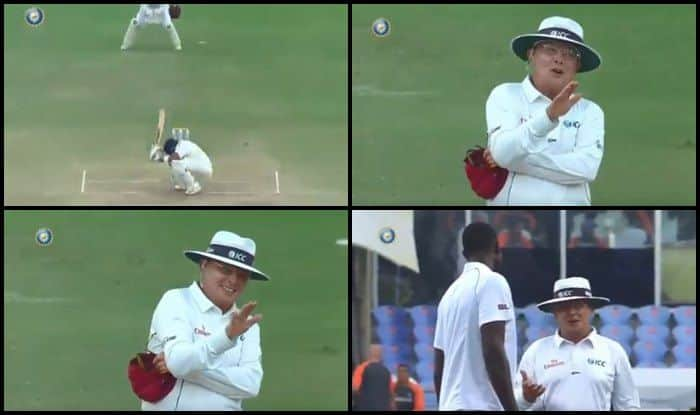 India vs West Indies 2nd Test: Umpire Ian Gould Apologises to Captain Jason Holder For Getting Prithvi Shaw Decision Wrong — WATCH