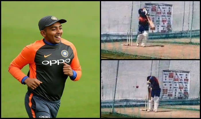 India vs West Indies 1st Test Rajkot: Prithvi Shaw Has a Net Session Ahead of Debut in Virat Kohli's Side — WATCH