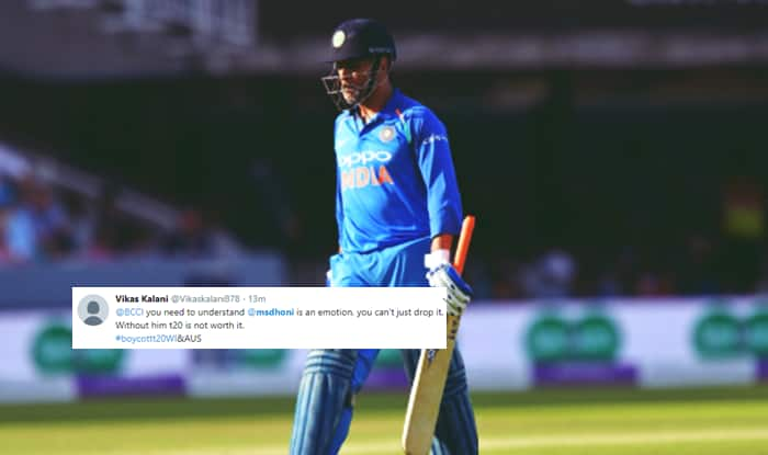 MS Dhoni Dropped From T20Is Against Windies, Australia, Twitter Unhappy