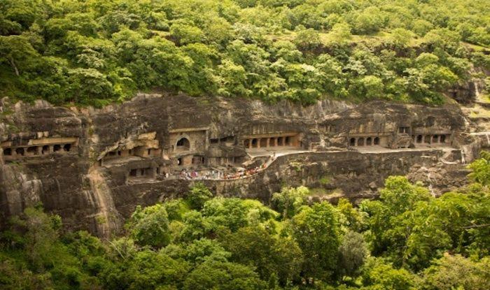 Aeriel view, Ajanta