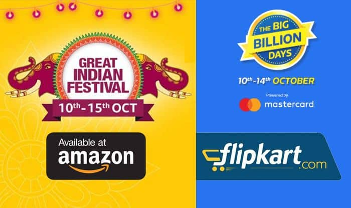 Amazon Great Indian Festival And Flipkart's The Big Billion Days is Now Live: Check Out Top Deals on Smartphones, Electronics Among Others