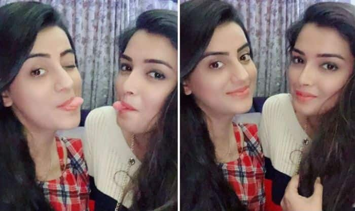 Amrapali Dubey and Akshara Singh