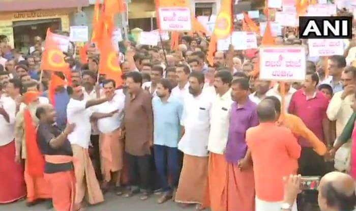 Sabarimala Verdict: BJP Workers Demand Kerala Government to File Review Petition Against SC Ruling; Say CM Pinarayi Vijayan Will be Responsible if Anything Happens