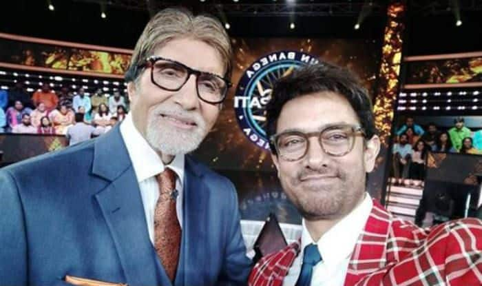 Aamir Khan And Amitabh Bachchan on sets of KBC 10