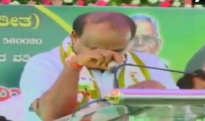 Kumaraswamy breaks down