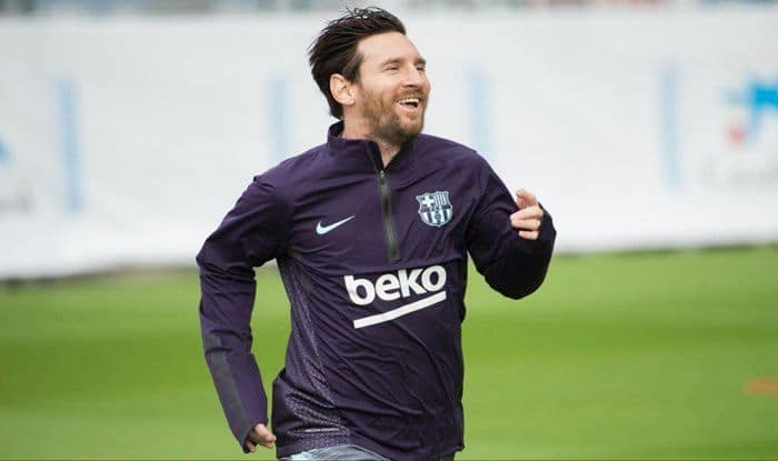 Messi Returns to training_Picture credits Twitter