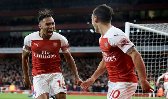 English Premier League: Pierre-Emerick Aubameyang Nets Twice as Arsenal Down Leicester City 3-1