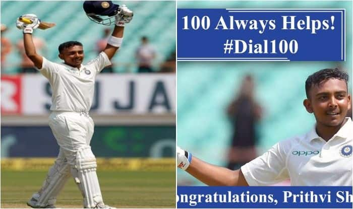 India vs West Indies 2018, 1st Test Rajkot: Mumbai Police Posts Quirky Tweet to Congratulate Centurion And Fellow Mumbaikar Prithvi Shaw