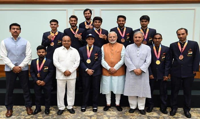 PM Narendra Modi And Sports Minister Rajyavardhan Singh Rathore Eulogise Para Athletes at Awards Function, Call Them 'True Icons'