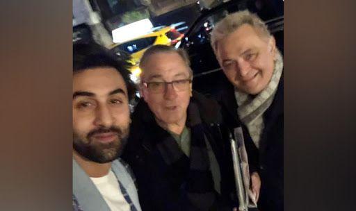 Rishi Kappor, Ranbir Kapoor meet Robert De Niro in New YorkRishi Kappor, Ranbir Kapoor meet Robert De Niro in New York