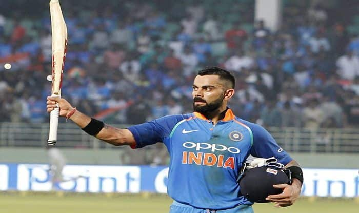 India vs West Indies 2nd ODI: Captain Virat Kohli's Gesture After Scoring 37th Hundred Against Windies in Vizag is Winning Internet | WATCH