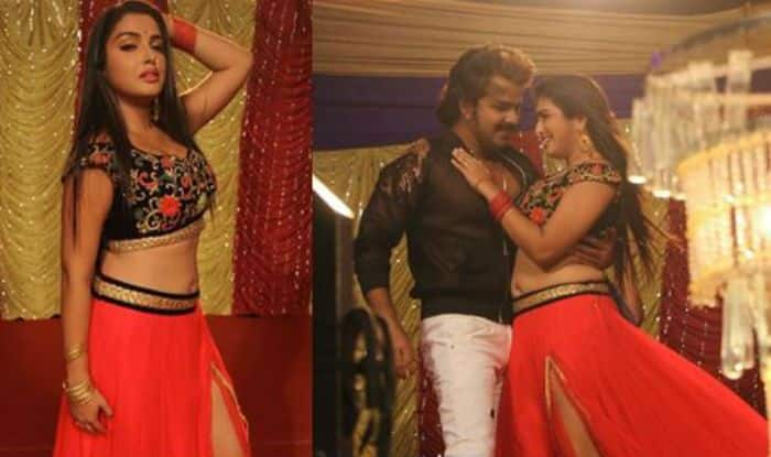 Bhojpuri Actress Amrapali Dubey Shoots a Sexy And Hot Song With Pawan Singh in Maine Unko Sajan Chun Liya, Check Sultry Pictures