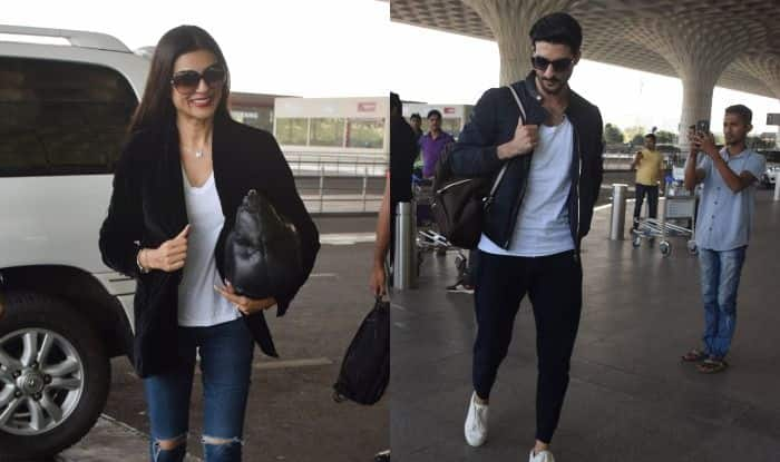 Sushmita Sen Can't Stop Smiling as She Poses With Rumoured Beau Rohman Shawl at The Airport, See Pictures