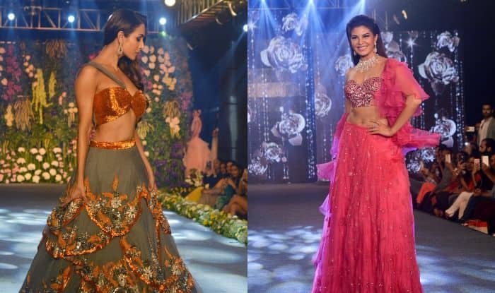 Jacqueline Fernandez And Malaika Arora Look Breathtakingly Beautiful as They Walk The Ramp at The Wedding Junction Show, See Pics