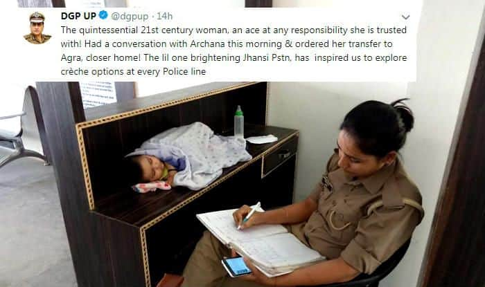 UP DGP Grants Transfer to Archana Jayant, The Mother Cop Who Took 6-Month-Old Baby to Work in The Viral Pic