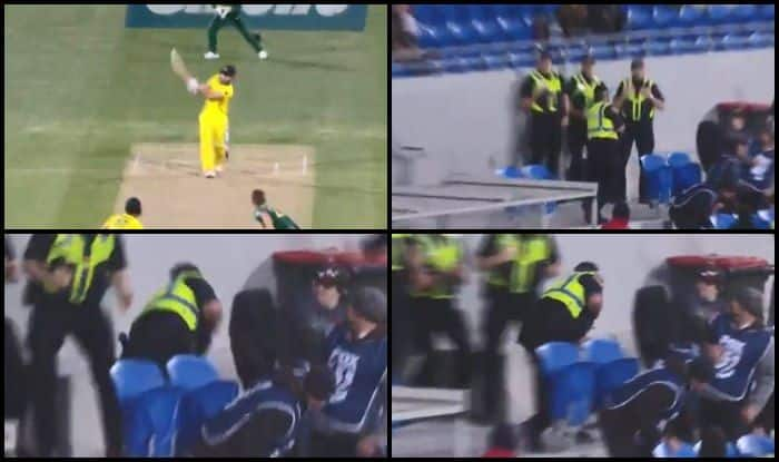 Australia vs South Africa 3rd ODI: Shaun Marsh Slams Massive Six, Security Officer Catches It In Stands But Tumbles Over — WATCH