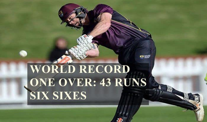 World Record Alert! Central Districts' Joe Carter And Brett Hampton Smash Six Sixes, 43 Runs in an Over in List A Cricket — WATCH