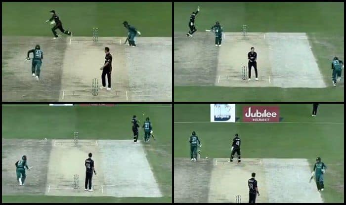 Pakistan vs New Zealand 3rd ODI Abu Dhabi: Faheem Ashraf-Asif Ali Run Five Runs in One Ball After Double Overthrow | WATCH