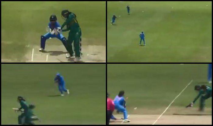 India Women vs Pakistan Women ICC Women's World T20: Jemimah Rodriguez Does a Ravindra Jadeja, Affects a Brilliant Runout to Send Omaima Sohail Packing — WATCH