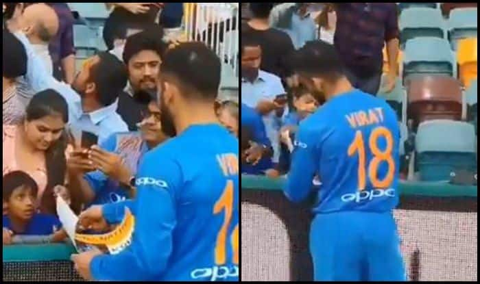 India vs Australia 1st T20I: Virat Kohli Obliges With a Heartwarming Gesture to The Fans at The Gabba | WATCH