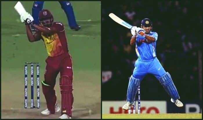 India vs West Indies 1st T20I: Keemo Paul Tries to Do an MS Dhoni, Fails Miserably Attempting The Helicopter Shot — WATCH